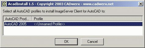 AutoCAD Install Select